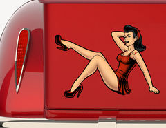 Autoaufkleber Pin-up Girl Gloria