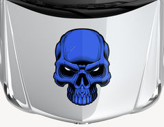 Autoaufkleber Blue Skull