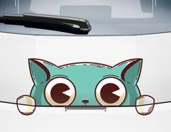 Autoaufkleber Katze Poupette