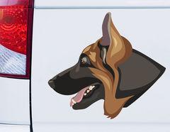 Autoaufkleber Schäferhund Jax