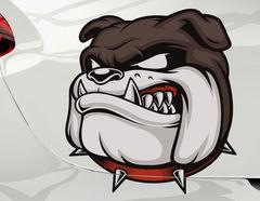 Autoaufkleber Bulldogge Cooper