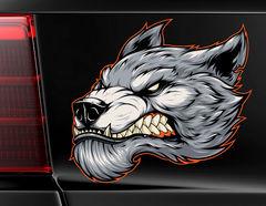 Autoaufkleber Immortal Werewolf Head