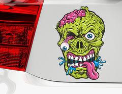 Autoaufkleber Green Zombie Head