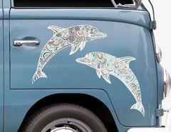 Autoaufkleber Delphine Zentangle-Style