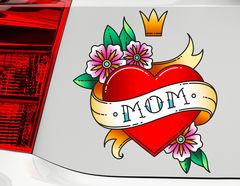 Autoaufkleber Mom Heart