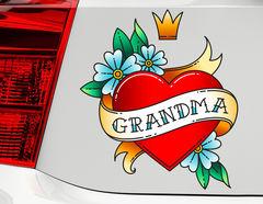 Autoaufkleber Grandma Heart