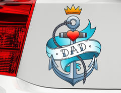 Autoaufkleber Dad Anchor