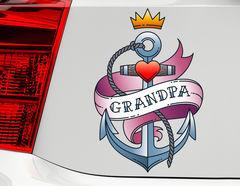 Autoaufkleber Grandpa Anchor