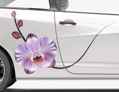Autoaufkleber Orchidee Violetta