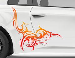 Autoaufkleber Flare Fire Tribal