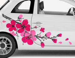 Autoaufkleber Kirschblütenzweig Sakura
