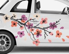 Autoaufkleber Kirschblütenzweig Nippon