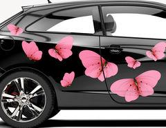 Autoaufkleber Fuchsia Butterflies