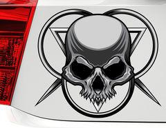 Autoaufkleber Dark Skull Ornament