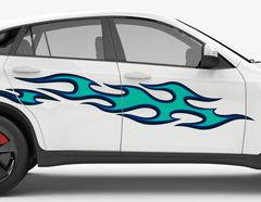 Autoaufkleber Blue Flames