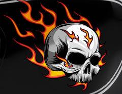 Autoaufkleber Burning Skull