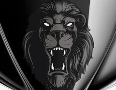 Autoaufkleber Black Lion Head
