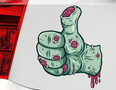 Autoaufkleber Thumb Up Zombie Hand