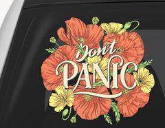 Autoaufkleber Don't Panic Poppies