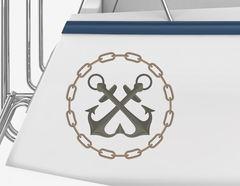 Bootsaufkleber Anker-Kette-Emblem