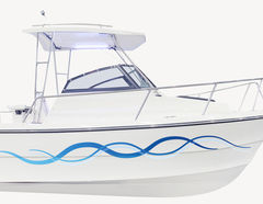 Bootsaufkleber Welle Marino