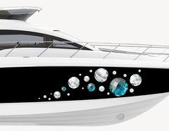 Bootsaufkleber Diamanten & Perlen
