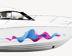 Bootsaufkleber Welle Sound