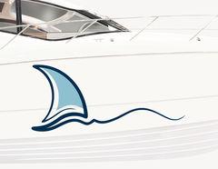 Bootsaufkleber Wellensegler
