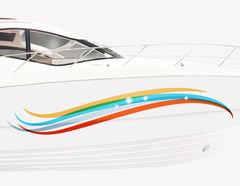 Bootsaufkleber Welle Rainbow