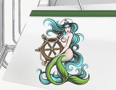 Bootsaufkleber Meerjungfrau Shelia