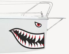 Bootsaufkleber Haifisch Mackie
