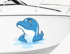Bootsaufkleber Harvey der Delfine