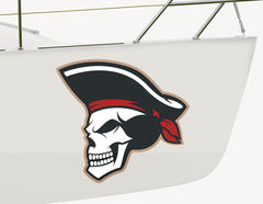 Bootsaufkleber Pirat Captain Blackbone