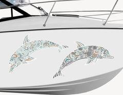 Bootsaufkleber Delphine Zentangle-Style