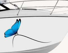 Bootsaufkleber Papillon Bleu