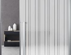 Milchglasfolie Vertical Stripes weiß