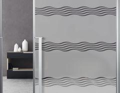 Milchglasfolie Soft Waves silbergrau