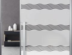 Milchglasfolie Soft Waves weiss