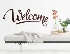 """Wandtattoo """"Welcome Lettering"""", sei immer nett gegrüßt!"""