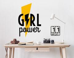 Wandtattoo Girl Power Blitz