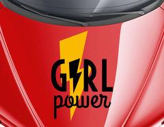 Autoaufkleber Girl Power Blitz