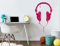Wandtattoo Dripping Headphones