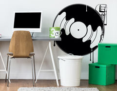 Wandtattoo Dripping Record Player