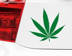 Ganja-Man on Tour: Autoaufkleber Cool Cannabis für Heck & Co
