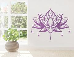 """Wandtattoo """"Im Lotosgarten"""" mit der Blütenpracht aus Indien"""