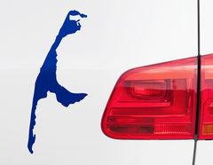 Autoaufkleber Sylt: Insel für Wassersportler + Nordsee-Fans