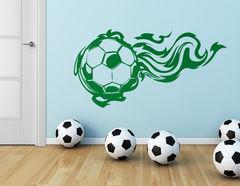 Wandtattoo Fußball on Fire