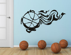 Wandtattoo Basketball on Fire