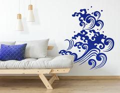 """Wandtattoo """"Wellen Tribal Nami"""" ist Japanische Grafik-Kunst"""