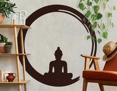 Wandtattoo Ensō Buddha